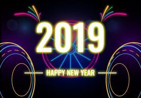 Feliz ano novo vetor 2018