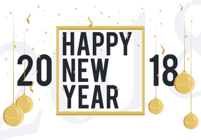 Happy New Year 2018 Free Vector Illustration