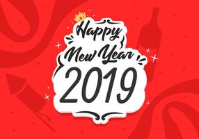 Happy New Year 2019 Free Vector Illustration