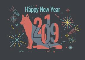 happy new year 2019 vector
