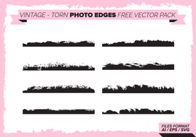 Vintage Torn Photo Edges Gratis Vector Pack