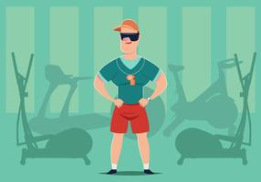 Gym Personal Trainer Vector