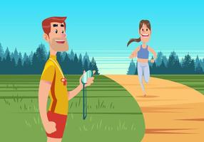 Running Personal Trainer Vector