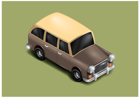 Gratis station wagon vector