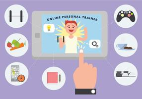 Online Personal Trainer Vektor