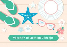 Free Flat Design Vector Summer Relax