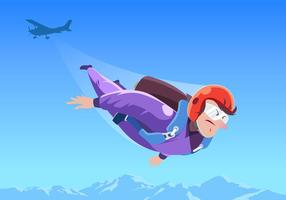 Skydiving Extreme Sport Vector
