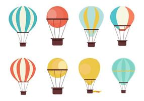 Gratis Hot Air Balloon Collection Vector