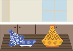 Vetor de preparação de refeição tajine