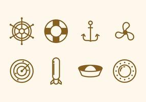 Vecteurs plats marins