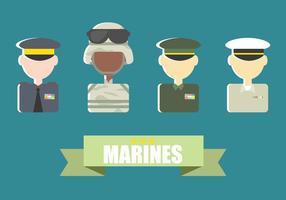 Marine Corps Flat Vector