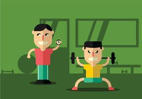 Illustration von Personal Trainer