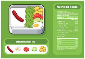 Free Lunch Food Nutrition Facts Vector