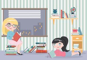 Bookworm-girls-with-many-books-vector