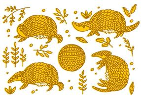 Armadillo Sketch Free Vector