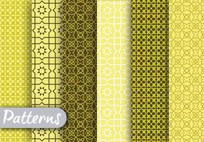 Ensemble de motifs géométriques verts