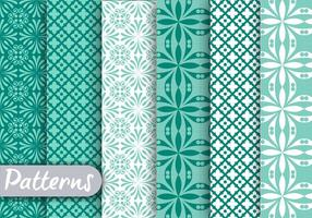Blue Geometric Pattern Set