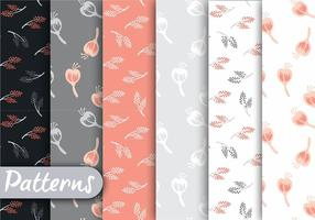 Soft Coral And Gray Pattern Set