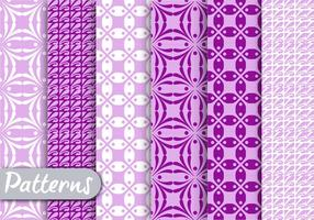 Purple Geometric Pattern set