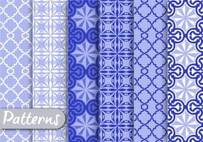 Blue Ornamet Pattern Set
