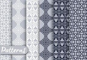 Gray Ornamet Pattern Set