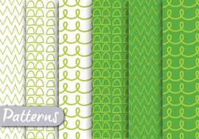 Vector-green-lined-pattern-set