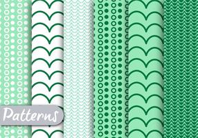 Green decorative Pattern Set