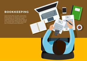 Bookkeeping Illustration Free Vector