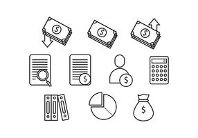 Gratis Bookkeeping Line Icon Vector