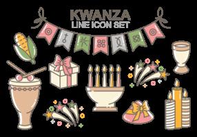 Kwanzaa icone vettoriali