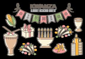 Kwanzaa ikoner vektor