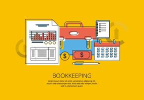 Bookkeeping Illustration vector