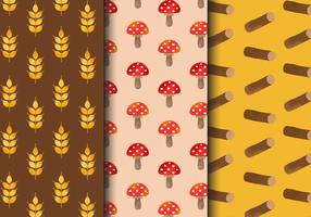 Free Vintage Autumn Patterns vector