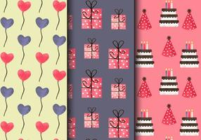 Free Vintage Birthday Party Patterns vector