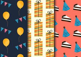 Patrones libres de la fiesta de cumpleaños de la vendimia