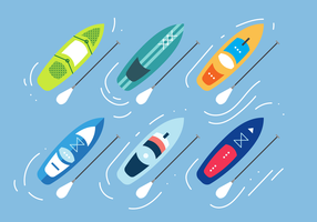 Paddle board vector