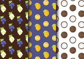 Free Vintage Fruit Patterns vector