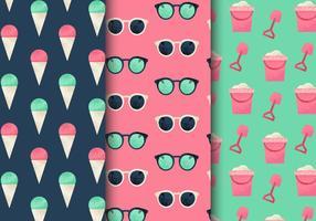 Patrones libres del día de fiesta de verano de la vendimia