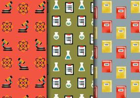 Gratis Vintage School Elements Patterns