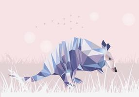Armadillo Low Poly Style Vector