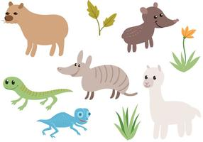 Free South American Animals Vectors