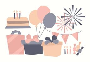 Vector Cute Birthday Elements