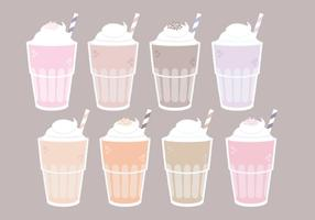 Vector Milkshake Glasses