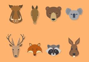 Vecteurs animaux plats
