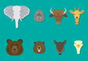 Vectores animales planos