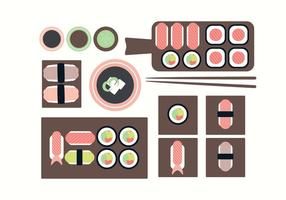 Vector Sushi Plates