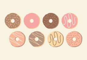 Vector Cute Hand Drawn Donuts