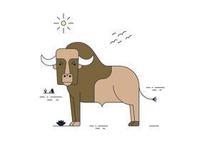 Vector libre del búfalo