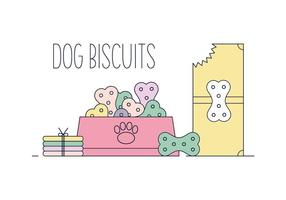 Gratis Dog Biscuit Vector