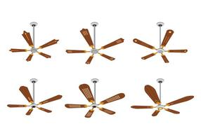 Set van Ceiling Fan Vectors